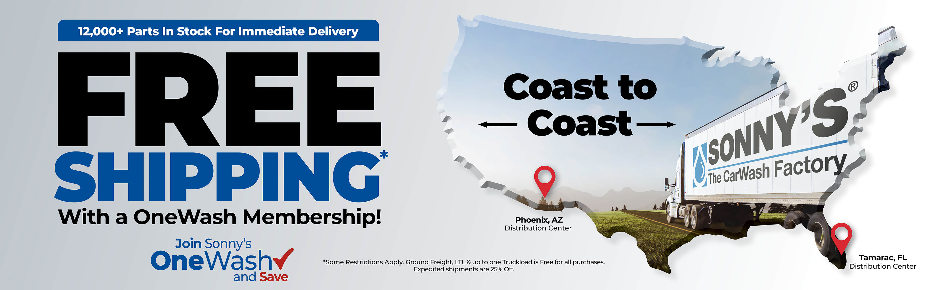FREE Shipping. With a OneWash Membership!