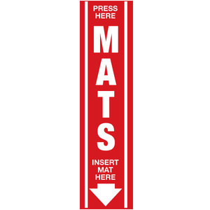 Mat Clamp Decal Red with White Letters