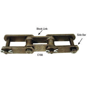 Chain, C188 Pin & Cotter, 10ft Section   Conveyor Parts   Parts