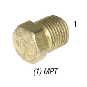 Plug 28-204 Hex Head Brass 1/2in MPT