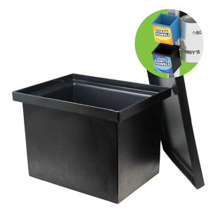 Dirty Towels 6-Gallon Container Black
