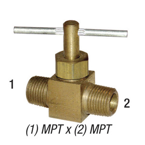 Needle Valve, 1/4in MPT x 1/4in MPT