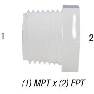 Bushing Nylon 1/2in MPT x 1/4in FPT