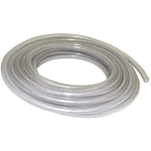 Clear Braided Hose 3/8in ID x 19/32in OD