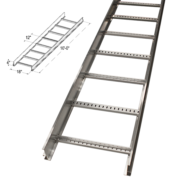 Cable Tray, 4 X 18 X 120, 12in Spacing