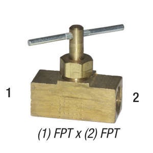 Needle Valve, 1/4in FPT x 1/4in FPT