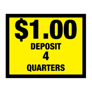 Vinyl Decal, Deposit $1.00 - 4 Quarters