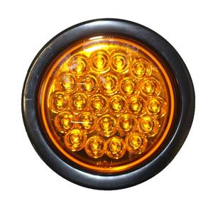 Round 4in Light Strobe, LED Amber w/Plug