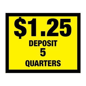 Vinyl Decal, Deposit $1.25 - 5 Quarters