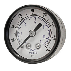 Pressure Gauge 0-160PSI 1/8in Rear