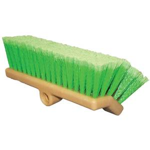 Brush Prep Bi-Level Poly 10in L Green