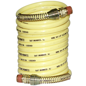 Nylon, Coiled Hose 1/4in x 12ft Yellow