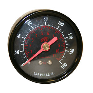 ARO Pressure Gauge 0-160PSI 1/4in Rear M