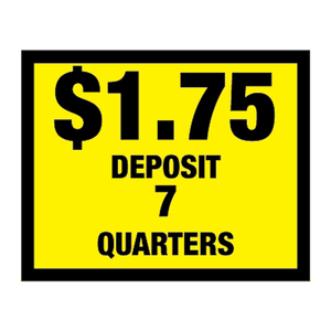 Vinyl Decal, Deposit $1.75 - 7 Quarters