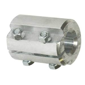 Coupler Split 1in x 1-1/2in Aluminum