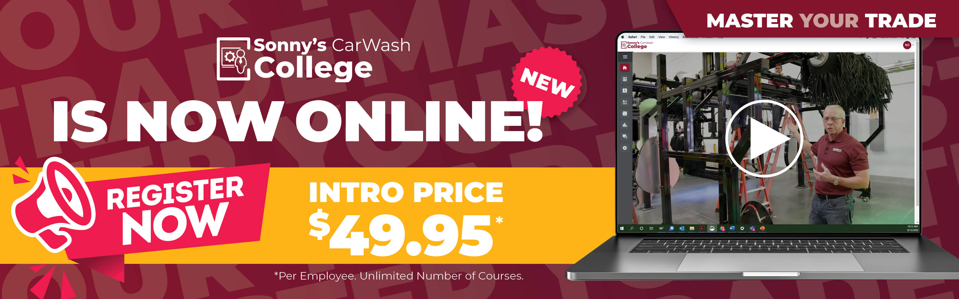 Register for CarWash College Online Classes