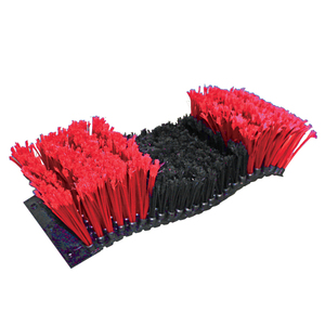 Bison Pelt Tire Brush Red/Black w/Rivet