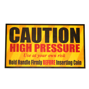 "Sign, Caution High Pressure 9""x16"" Dim"