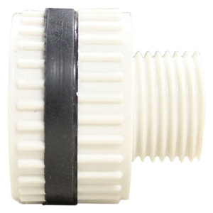 Bulkhead, PVC40 1/4in Thru Thread