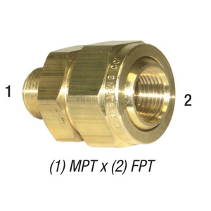 Ball Fitting, Brass 1/4 MPT x 1/4 FPT