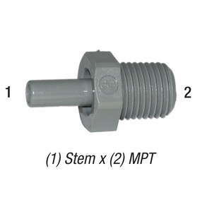 Adapter PI050822S 1/4in Stem x 1/4in MPT