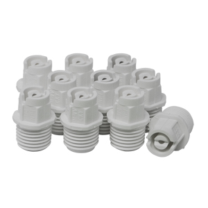 Nozzle 1/4in MPT 40° 08 White