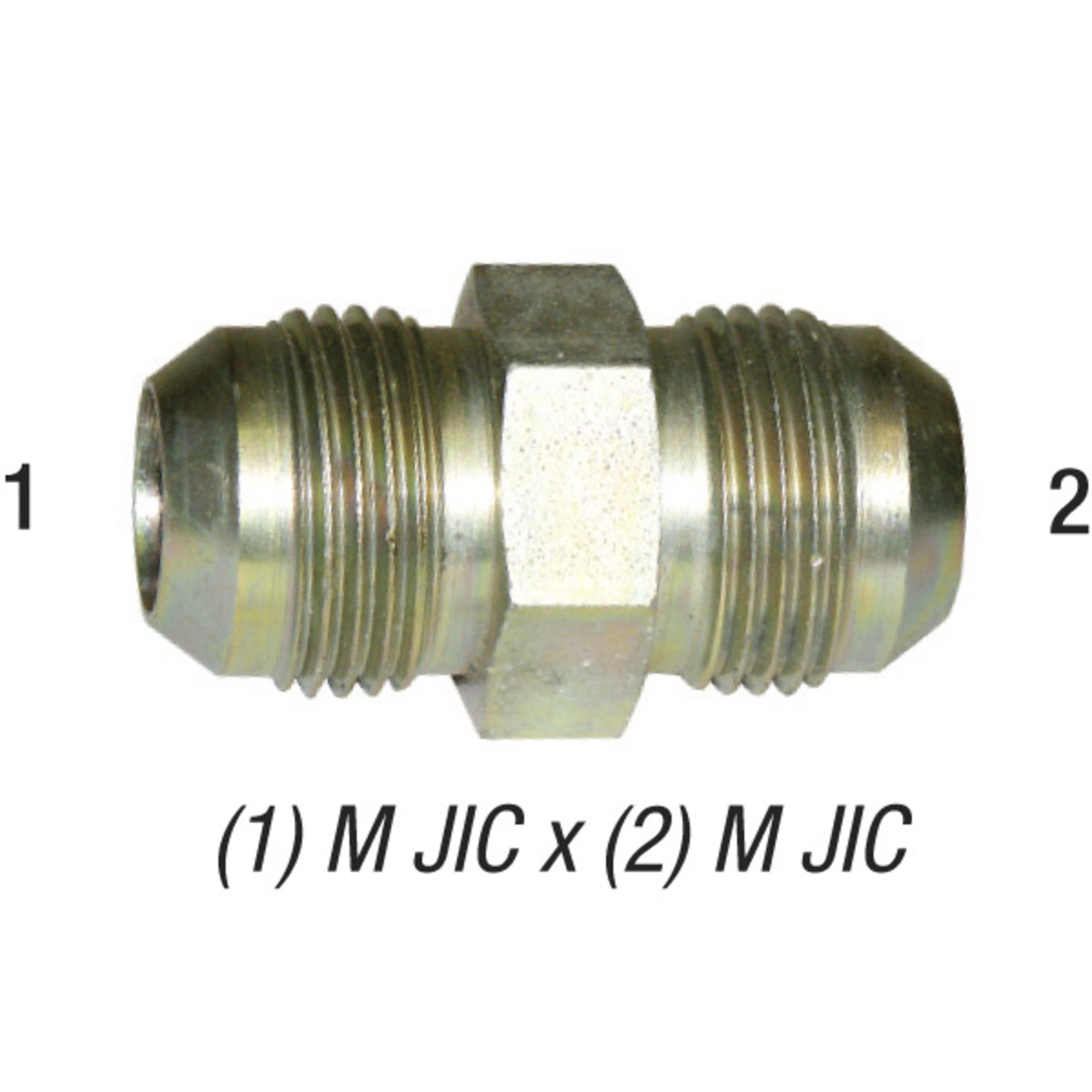 16 Union Fitting Male JIC 12 to AN AN