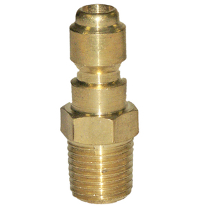 Quick-Disconnect Plug Brass 3/8in MPT