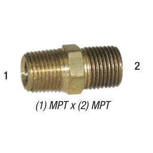 Nipple 28-212 Hex 1/4in MPT x 1/4in MPT