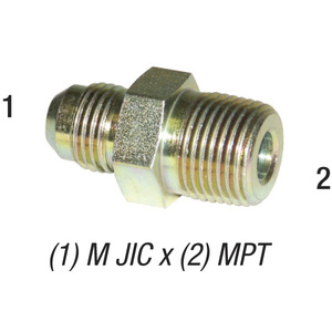 Connector 2404 M JIC 1/2in x 3/8in MPT