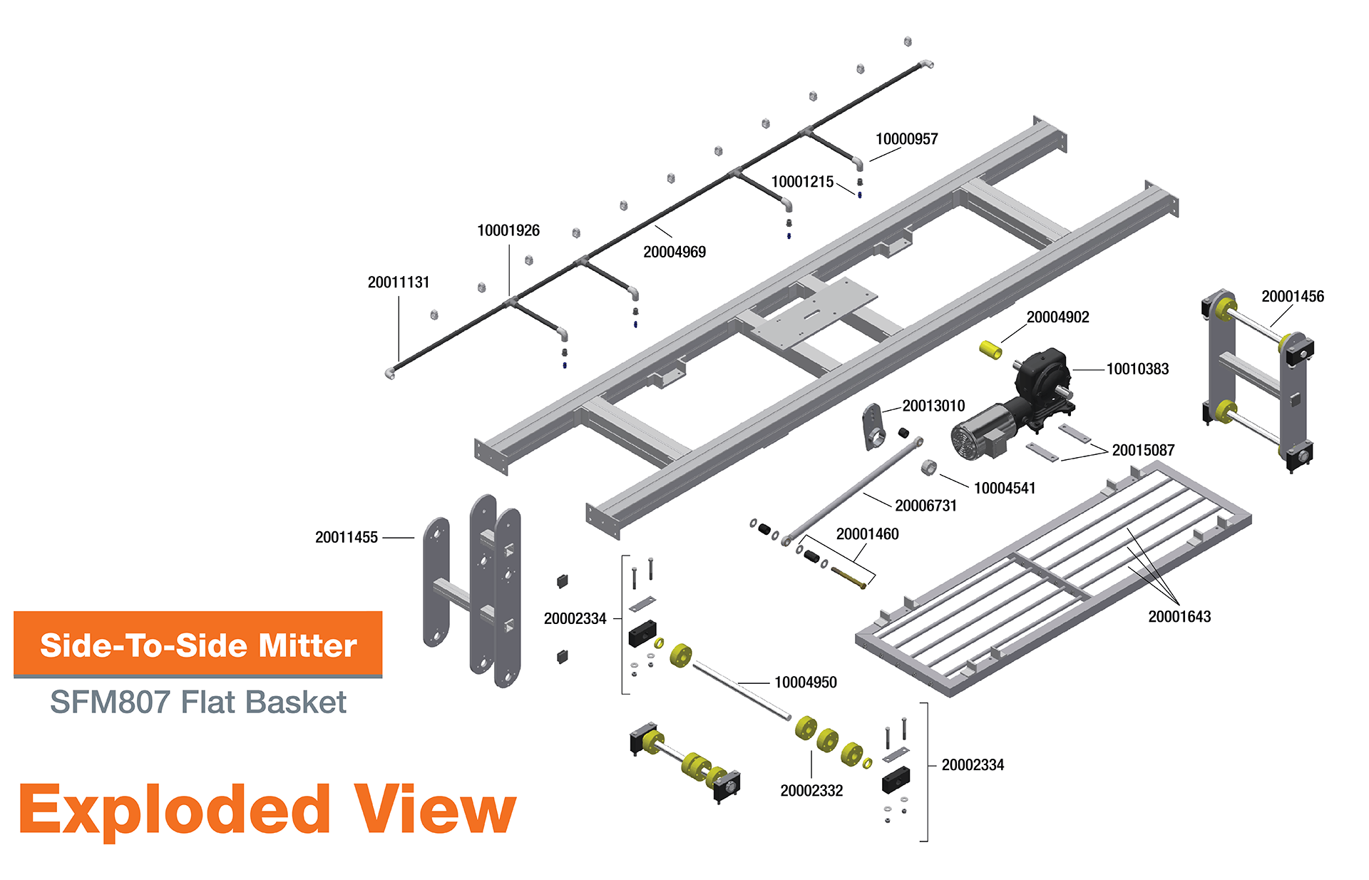 SFM807 Side to Side Mitter Exploded View